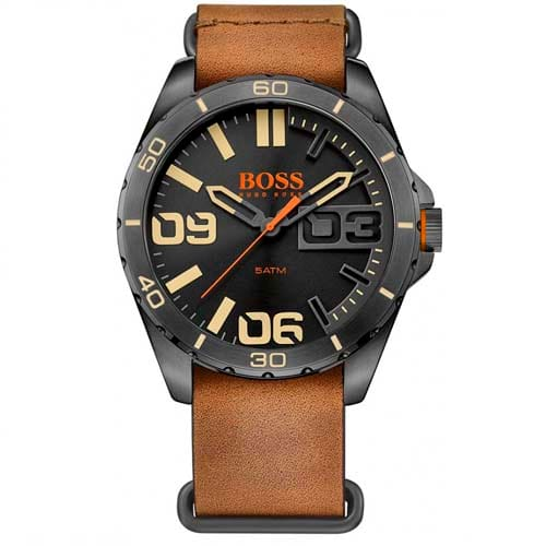 ee50f641398 Relógio Hugo Boss Masculino Couro Marrom - 1513316