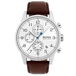 e6786d32a6e Relógio Hugo Boss Masculino Couro Marrom - 1513495