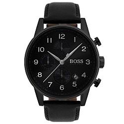 d2be33b0e6b Relógio Hugo Boss Masculino Couro Preto - 1513497