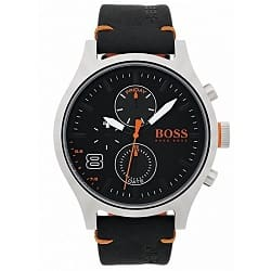 145a57fae83 Relógio Hugo Boss Masculino Couro Preto - 1550020