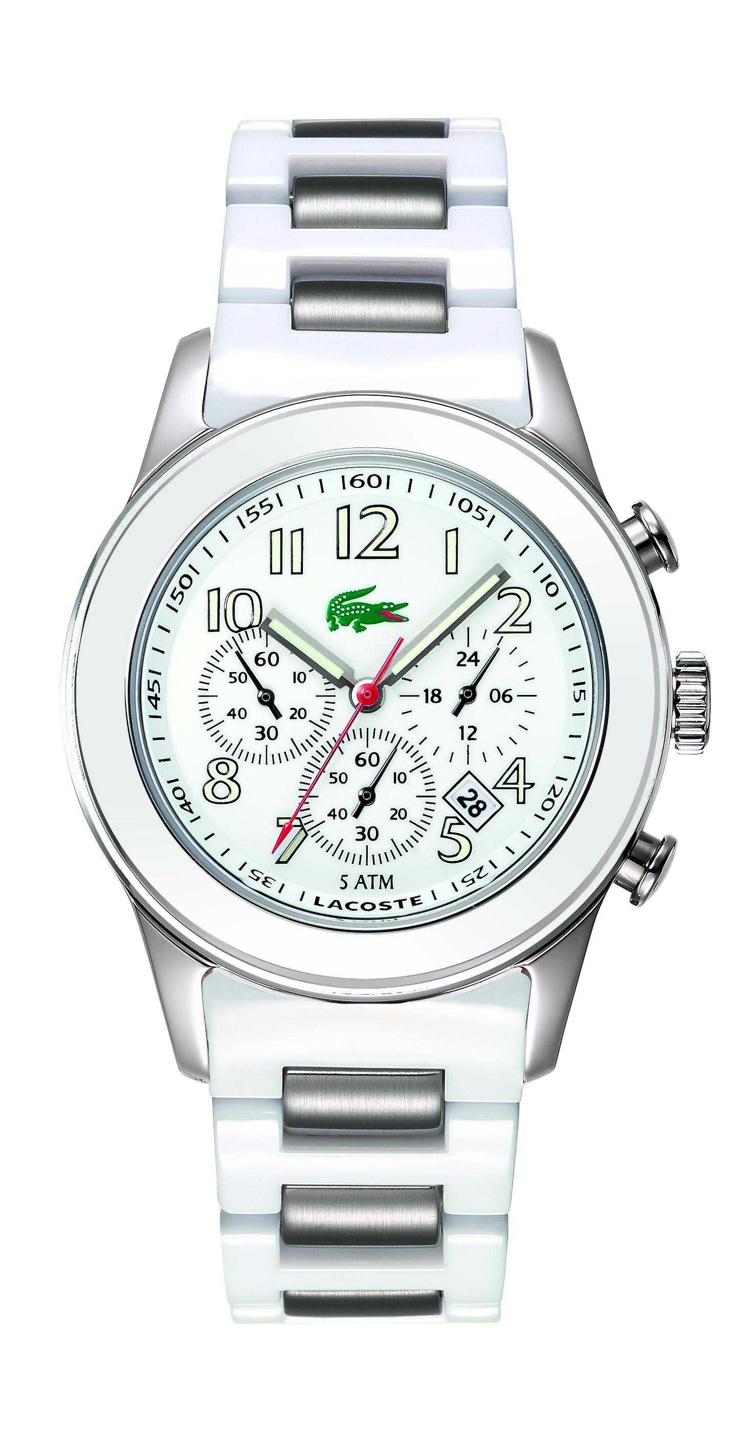 e85aa81e475 Relógio Lacoste Feminino Policarbonato Branco - 2000381