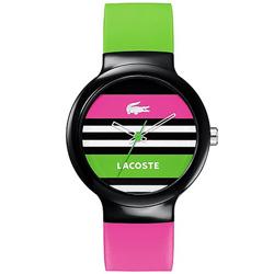 803fe954651b2 Relógio Lacoste Feminino Borracha Rosa e Verde - 2020004
