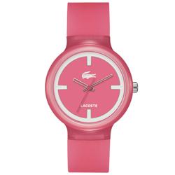 56c91bfaf6778 Relógio Lacoste Feminino Borracha Rosa - 2020025