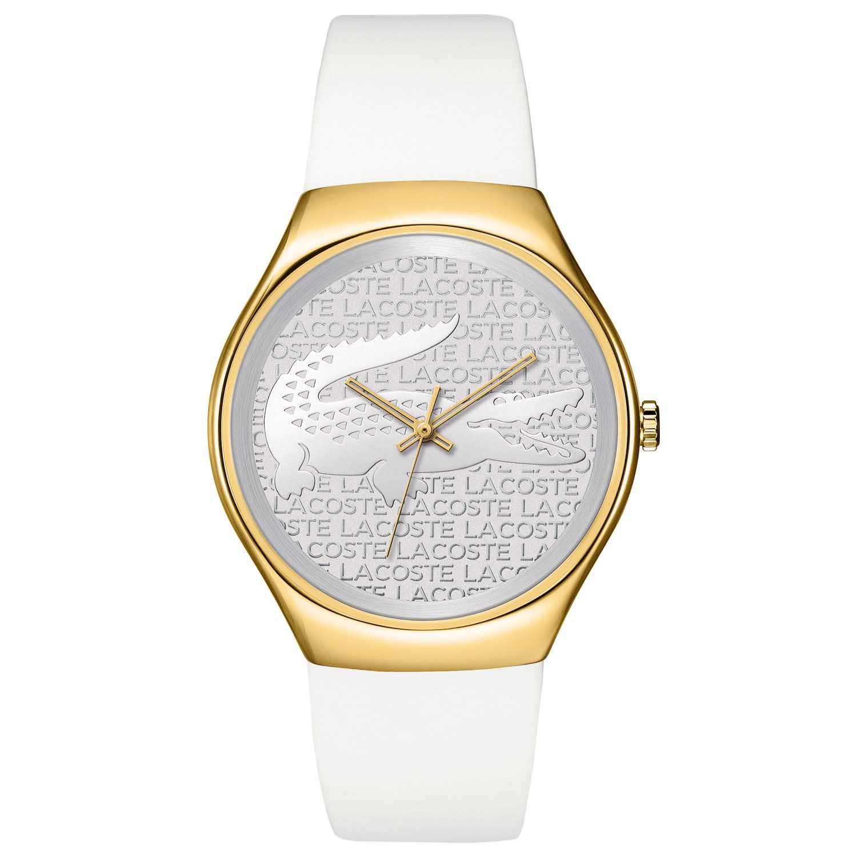9391ee9cf70f8 Relógio Lacoste Feminino Borracha Branca - 2000787