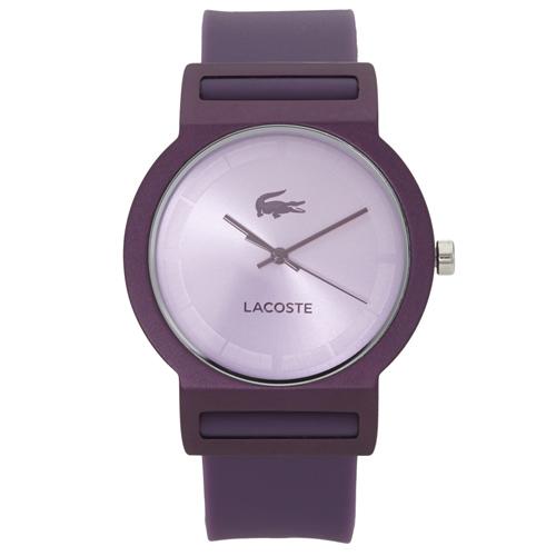 5251b32577c53 Relógio Lacoste Feminino Borracha Roxa - 2020075