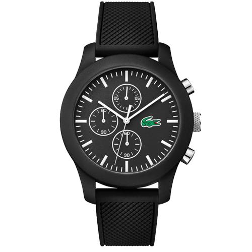 11270d1124d Relógio Lacoste Masculino Borracha Preta - 2010821