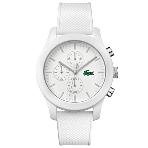 b464a697c3d Relógio Lacoste Unissex Borracha Branca - 2010823