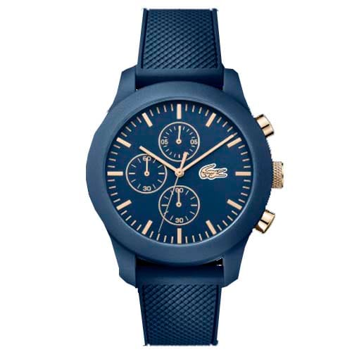 533d157ad99f7 Relógio Lacoste Masculino Borracha Azul - 2010827