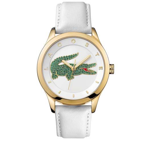 f5ec00b1b5d Relógio Lacoste Feminino Couro Branco - 2000894