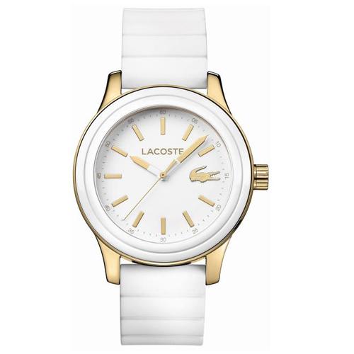 1928750ee12b7 Relógio Lacoste Feminino Borracha Branca - 2000904