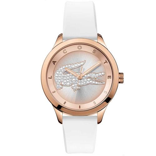 e1d59c7fba8c6 Relógio Lacoste Feminino Borracha Branca - 2000915