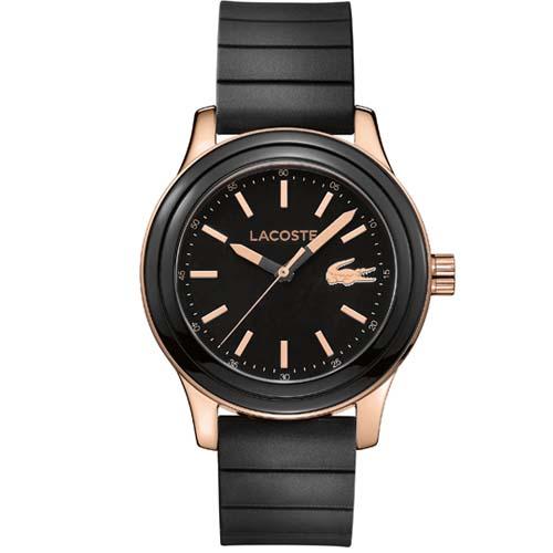 57d0ee9e433 Relógio Lacoste Feminino Borracha Preta - 2000905