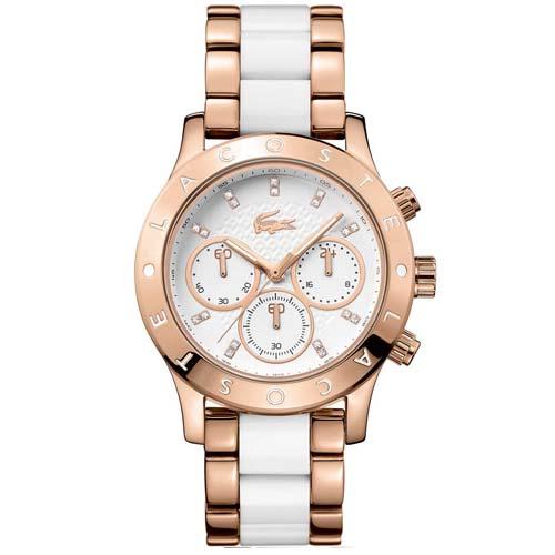 Relógio Lacoste Feminino Aço Branco e Dourado - 2000911 729711e014