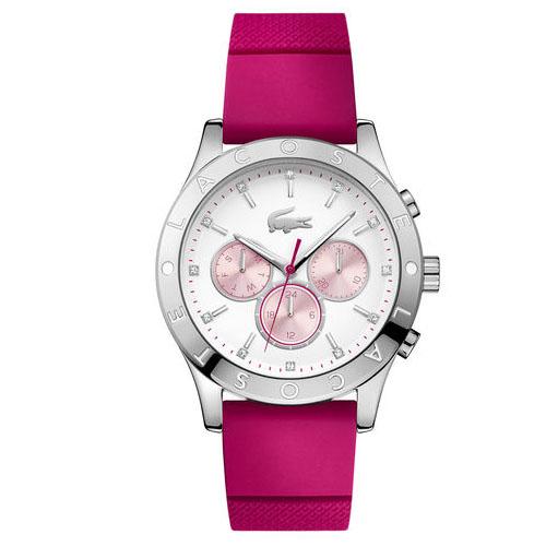 dc556b0405c Relógio Lacoste Feminino Borracha Rosa - 2000941