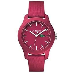 38878de568075 Relógio Lacoste Feminino Borracha Rosa - 2000957