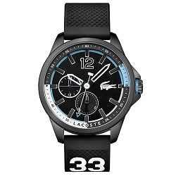 799e5858a08 Relógio Lacoste Masculino Borracha Preta - 2010896