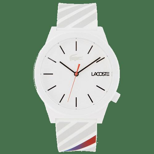 ea6bdc36b9c Relógio Lacoste Masculino Borracha Branco - 2010935