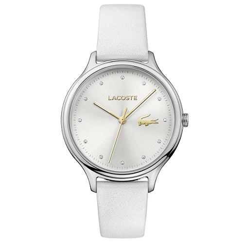 e16202c6938 Relógio Lacoste Feminino Couro Branco - 2001005