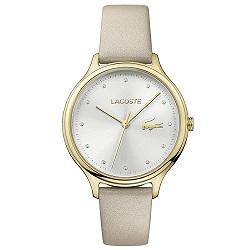 9ca1dfad2a43c Relógio Lacoste Feminino Couro Bege - 2001007