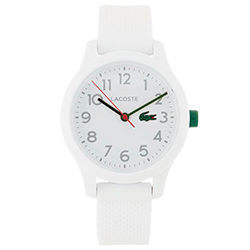 22ca147b873f5 Relógio Lacoste Infantil Borracha Branca - 2030003