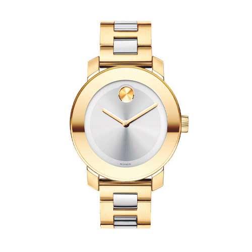 14c49a1898a Relógio Movado Feminino Aço Dourado e Prateado - 3600129