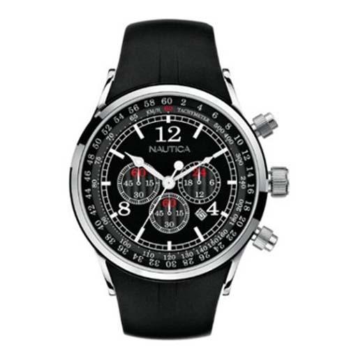 360db15e864 Relógio Nautica Masculino Resina Preta - A34001G