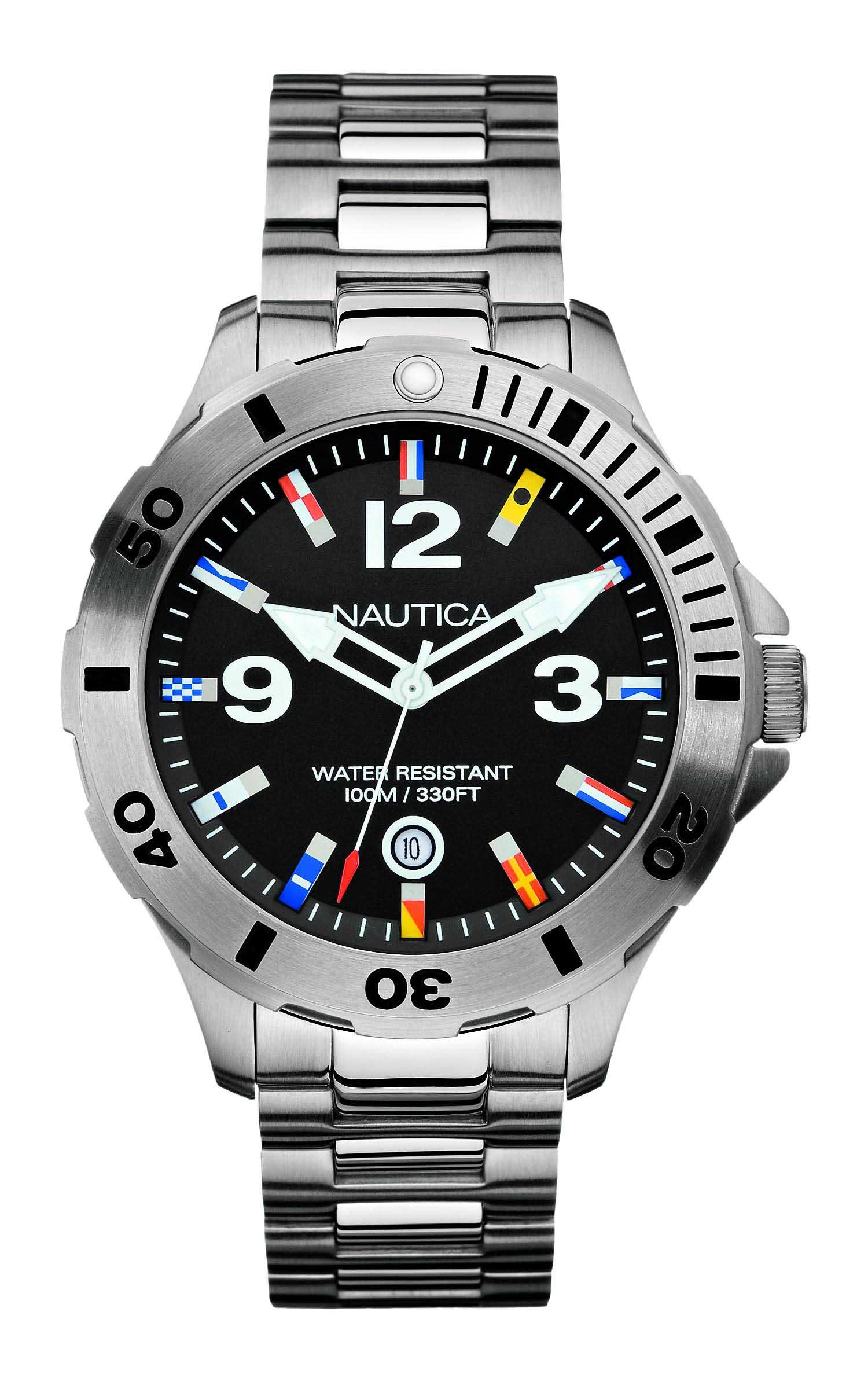 67aafe4dfaf Relógio Nautica Masculino Aço - A15573G