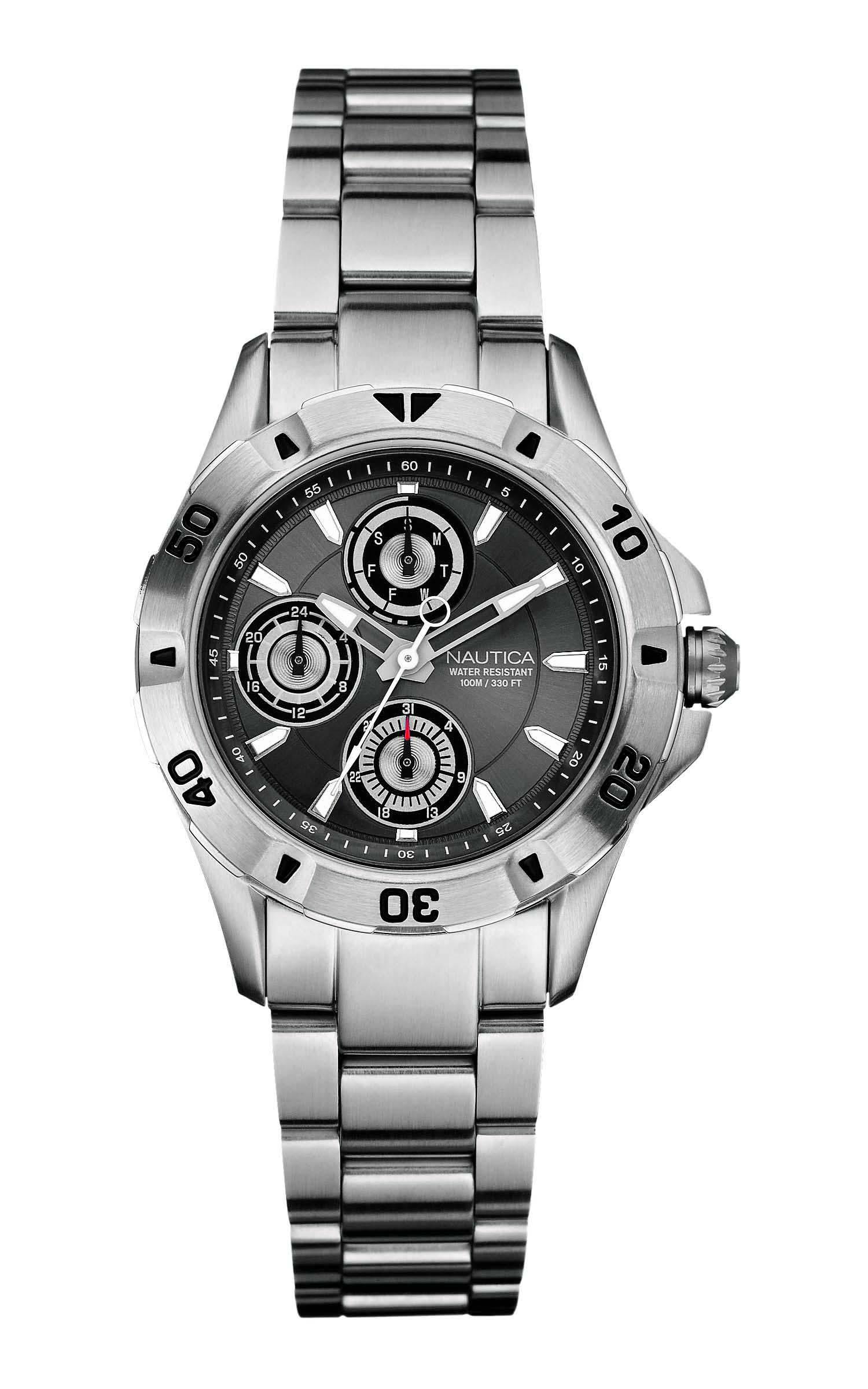 0c55eee7206 Relógio Nautica Masculino Aço - A16546M