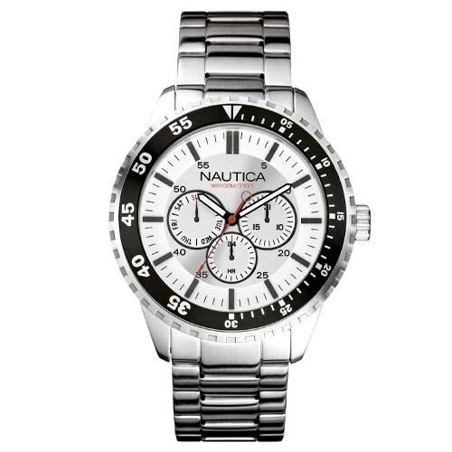 b885992c2b3 Relógio Nautica Masculino Aço - A15018G