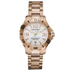 f8215287a84 Relógio Nautica Feminino Aço Rosé - A20100M