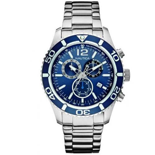 b0a3e40481a Relógio Nautica Masculino Aço - A16665G