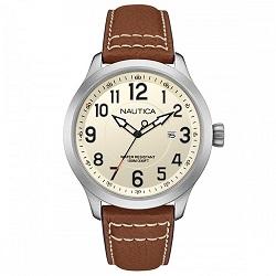 5ed3cdf8731 Relógio Nautica Masculino Couro Marrom - NAI10005G