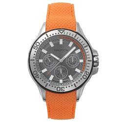 c92c398f278 Relógio Nautica Masculino Borracha Laranja - NAPAUC002