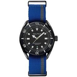 989de73fb37 Relógio Nautica Masculino Nylon Azul e Cinza - NAPPRF002