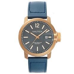 2e7282469fb Relógio Nautica Masculino Couro Azul - NAPSYD004