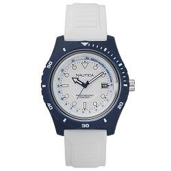 86c644feb7f Relógio Nautica Masculino Borracha Branca - NAPIBZ006