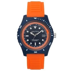 c3be125a9e1 Relógio Nautica Masculino Borracha Laranja - NAPIBZ004