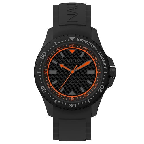 083d5863c02 Relógio Nautica Masculino Borracha Preta - NAPMAU008