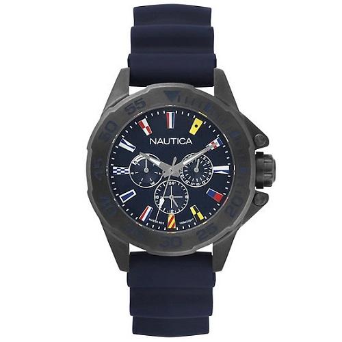 cf76021e010 Relógio Nautica Masculino Borracha Azul - NAPMIA004