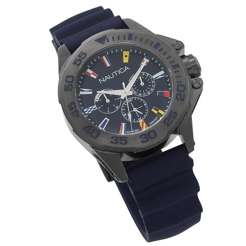 055ad6f8899 Vivara Relógios Relógio nautica masculino borracha azul - napmia004. Passe  o mouse para ampliar. Confira o estoque deste produto nas lojas