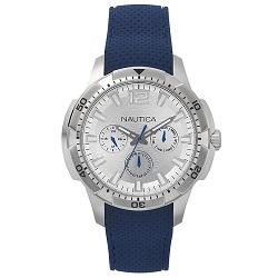 8e2b9e7fc8f Relógio Nautica Masculino Borracha Azul - NAPSDG002