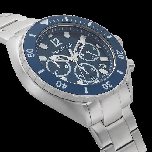 241e8eaec36 Vivara Relógios Relógio nautica masculino aço - napnwp009. Passe o mouse  para ampliar. Confira o estoque deste produto nas lojas