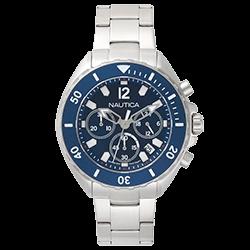 4107dcde174 Relógio Nautica Masculino Aço - NAPNWP009