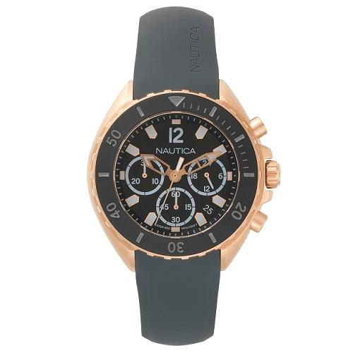 525b08ea4fc Relógio Nautica Masculino Borracha Cinza - NAPNWP008