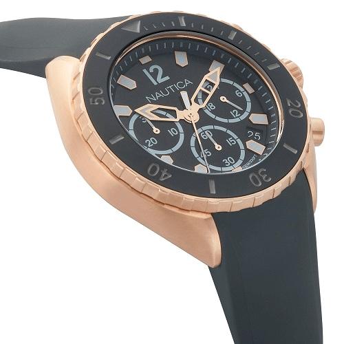 d7307221156 Relógio Nautica Masculino Borracha Cinza - NAPNWP008