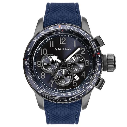 adc7195b2ac Relógio Nautica Masculino Borracha Azul - NAPGLY001