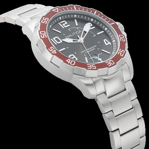 210b549a458 Relógio Nautica Masculino Aço - NAPPLH005