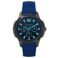 c6bacb874be Relógio Nautica Masculino Borracha Azul - NAPSDG004