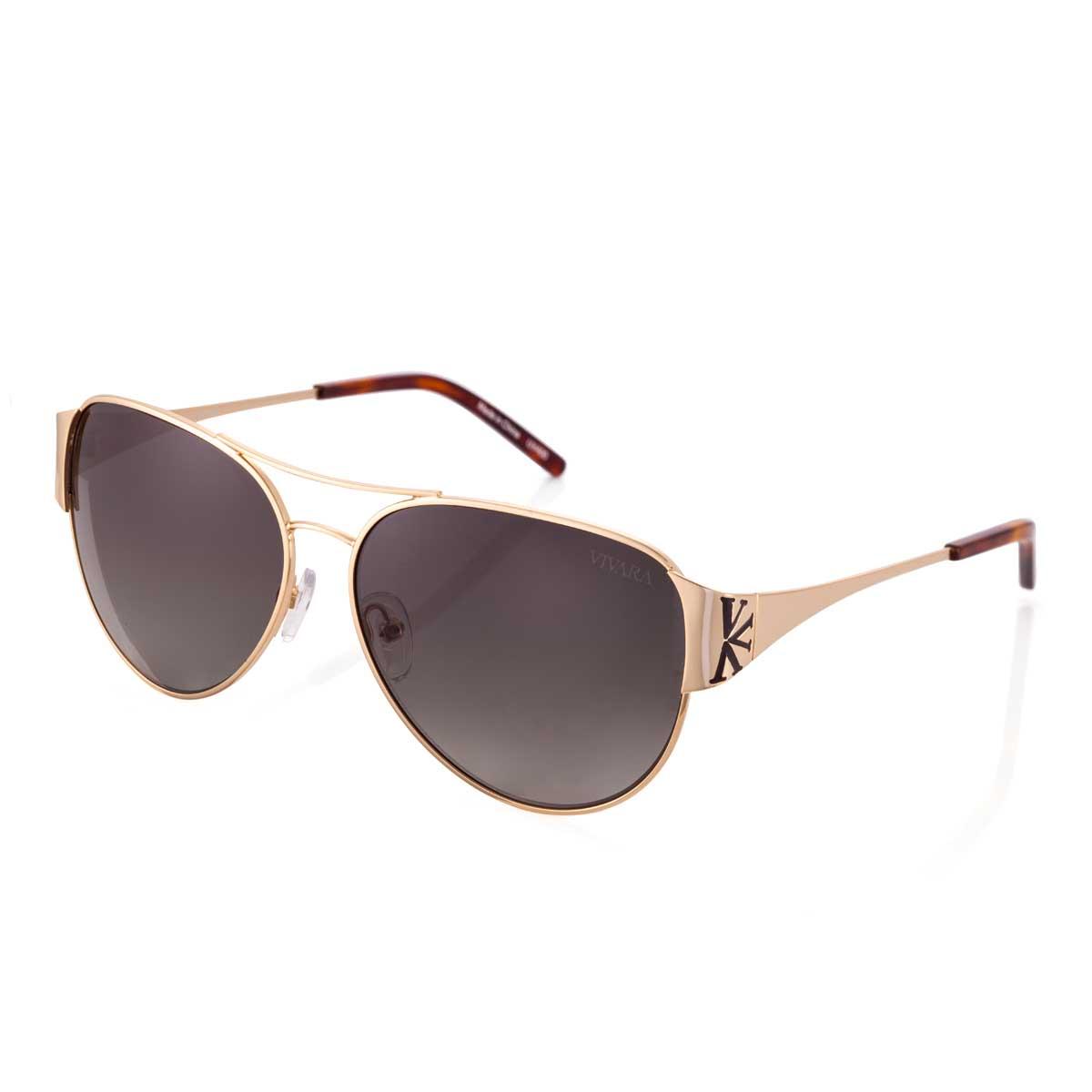 be3febf3f2d4d Óculos de Sol Aviador em Aço Dourado