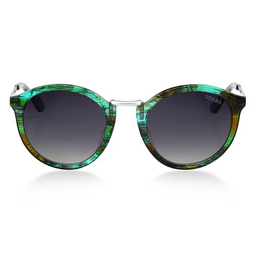 fd85650367724 ... SolÓculos de sol redondo em acetato verde e azul. Passe o mouse para  ampliar. Confira o estoque deste produto nas lojas
